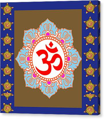 Canvas Print featuring the photograph Om Mantra Ommantra Chant Yoga Meditation Tool by Navin Joshi
