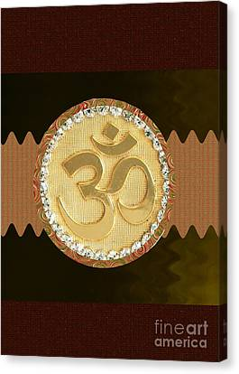 Om Mantra Ommantra Hinduism Symbol Sound Chant Religion Religious Genesis Temple Veda Gita Tantra Ya Canvas Print by Navin Joshi