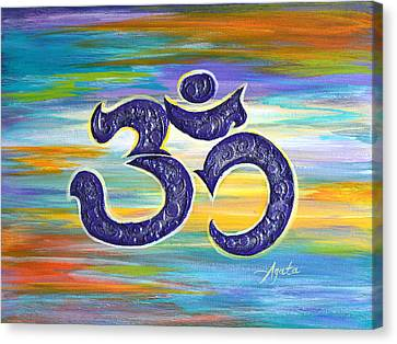Om Purple Canvas Print