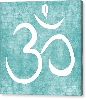 Om Sky Canvas Print by Linda Woods
