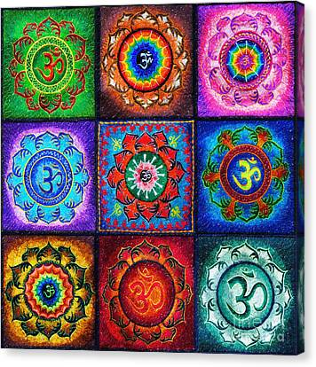 Om Squared Canvas Print by Tim Gainey