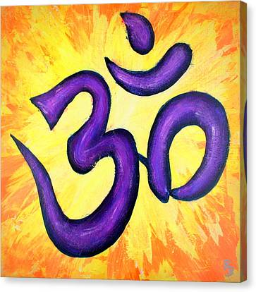 Om Symbol Art Painting Canvas Print by Bob Baker