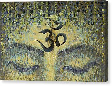 India Canvas Print - OM by Vrindavan Das