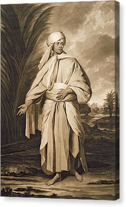 Omai, Engraved By John Jacobe, 1777 Mezzotint Canvas Print by Sir Joshua Reynolds