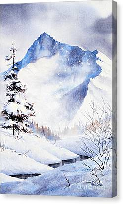 Canvas Print featuring the painting O'malley Peak by Teresa Ascone