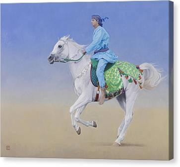Oman Cavalryman Canvas Print by Emma Kennaway