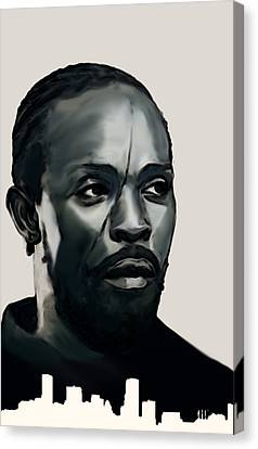 Canvas Print featuring the painting Omar Little by Jeff DOttavio