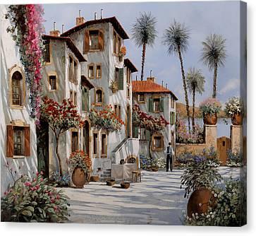 Ombre Al Pomeriggio Canvas Print by Guido Borelli