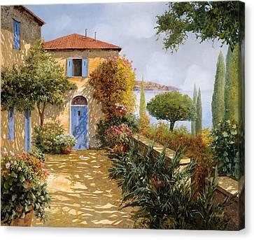 Ombre Sul Terrazzo Canvas Print