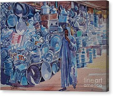 Canvas Print - Omdurman Markit by Mohamed Fadul