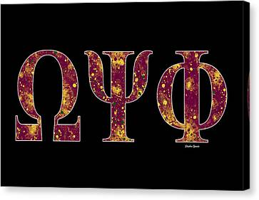 Omega Psi Phi - Black Canvas Print by Stephen Younts