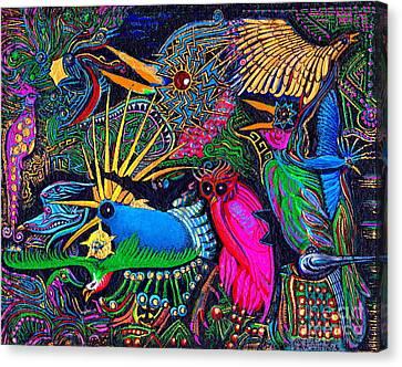 Omen Birds Canvas Print by Peter Gumaer Ogden