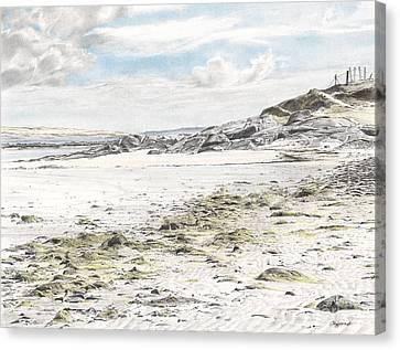 Omey Island Canvas Print by Renee Clifford