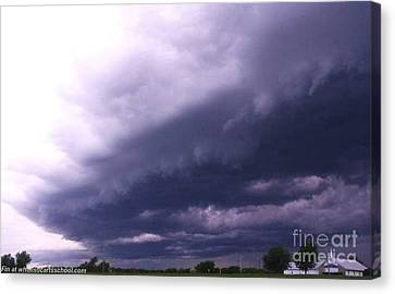 Ominous Clouds Canvas Print by PainterArtist FIN