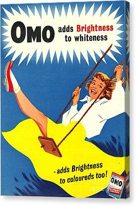 Omo 1950s Uk Washing Powder Products Canvas Print by The Advertising Archives