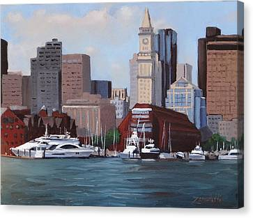 On A Clear Day Canvas Print by Laura Lee Zanghetti