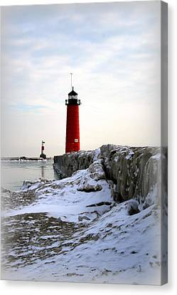 On A Cold Winter's Morning Canvas Print by Kay Novy