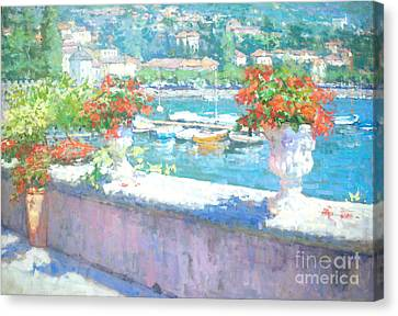 Lake Como Canvas Print - On A Morning In August by Jerry Fresia