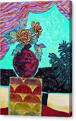 Canvas Print - On A Pedestal by Diane Fine