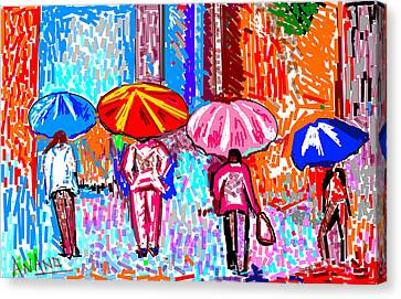 On A Rainy Day Canvas Print by Anand Swaroop Manchiraju