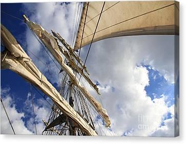 On A Sail Ship Canvas Print