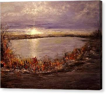 Canvas Print featuring the painting On A Slice Of Heaven... by Cristina Mihailescu
