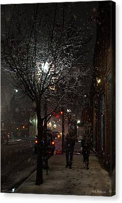 On A Walk In The Snow - Grants Pass Canvas Print by Mick Anderson