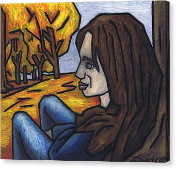 On A Warm Autumn Day Canvas Print by Kamil Swiatek