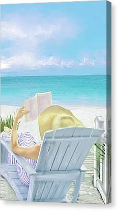 On Beach Time Canvas Print