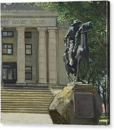 On Courthouse Square Canvas Print by Paul VerBurg