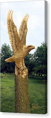Canvas Print featuring the digital art On Eagle's Wings by Doug Kreuger