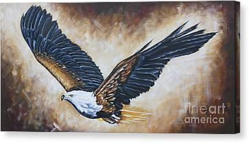 On Eagle's Wings Canvas Print by Ilse Kleyn
