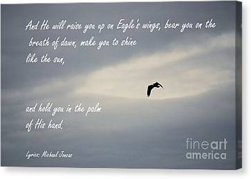 On Eagle's Wings Canvas Print by Sharon Elliott