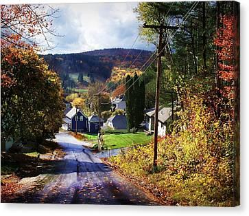 On Elm Street Looking Towards Spruce Mountain Canvas Print
