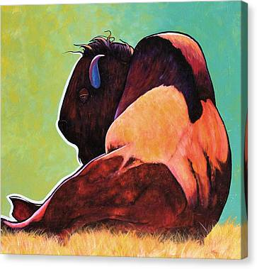 On Empty Bison Canvas Print by Joe  Triano