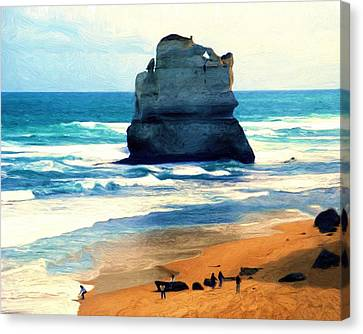 On Gibson Beach Canvas Print by Dennis Lundell
