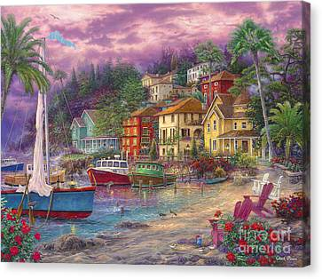 On Golden Shores Canvas Print by Chuck Pinson