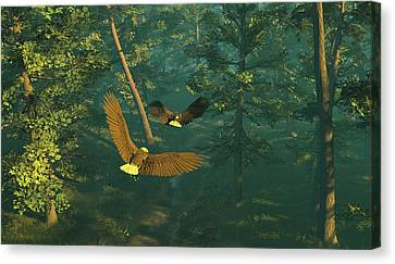 On Graceful Wings Part I Canvas Print by Dieter Carlton