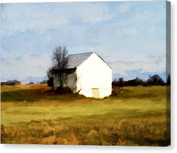 On Hwy B Near Ogdensburg.  Canvas Print by David Blank