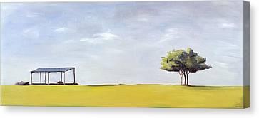 Surreal Barn Canvas Print - On Minchinhampton by Ana Bianchi