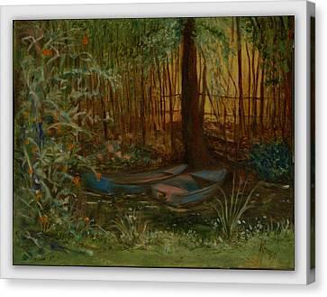 On Monet's Pond Canvas Print