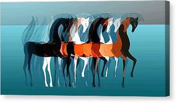 On Parade Canvas Print by Stephanie Grant