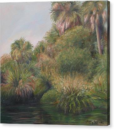On Pellicer Creek Canvas Print