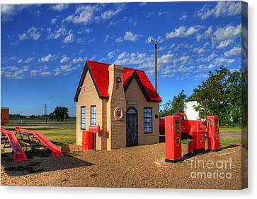 On Route 66 Canvas Print by Mel Steinhauer