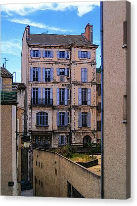 On Rue St. Claire - France Canvas Print by David Blank