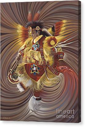 Chavez-mendez Canvas Print - On Sacred Ground Series 4 by Ricardo Chavez-Mendez
