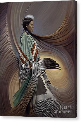Chavez-mendez Canvas Print - On Sacred Ground Series I by Ricardo Chavez-Mendez