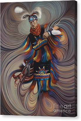 Dancer Canvas Print - On Sacred Ground Series II by Ricardo Chavez-Mendez
