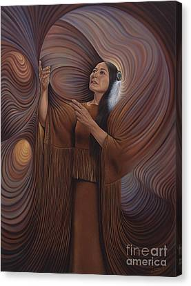 Chavez-mendez Canvas Print - On Sacred Ground Series V by Ricardo Chavez-Mendez
