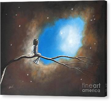 On Silent Wings By Shawna Erback Canvas Print by Shawna Erback